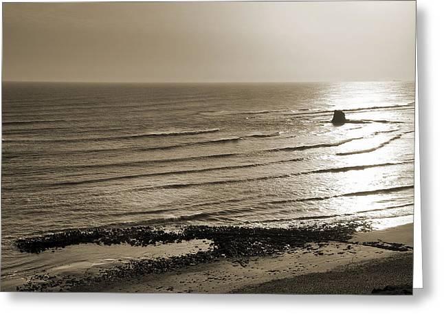 Saltwick Bay Greeting Card by Svetlana Sewell