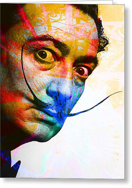 Salvador Dali Greeting Card by Andrew Osta