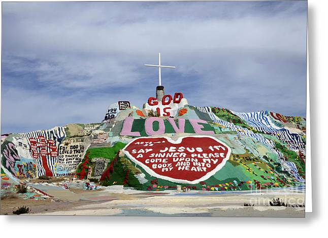 Salvation Mountain California 3 Greeting Card by Bob Christopher