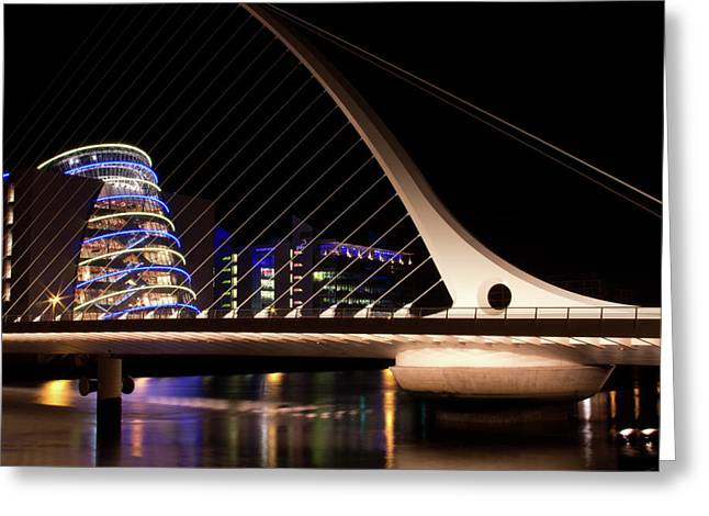 Samuel Beckett Bridge Of Dublin Greeting Card