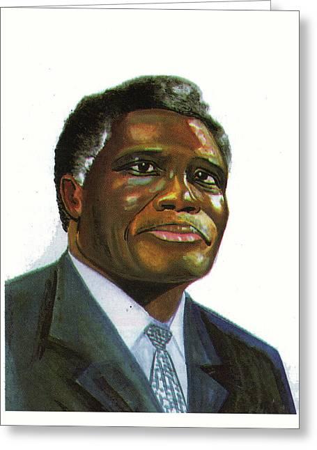 Samuel Kobia Greeting Card by Emmanuel Baliyanga
