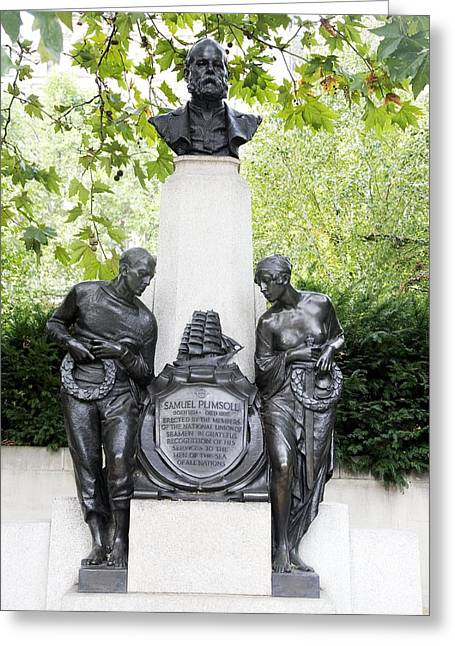 Samuel Plimsoll Commemorative Monument Greeting Card by Sheila Terry