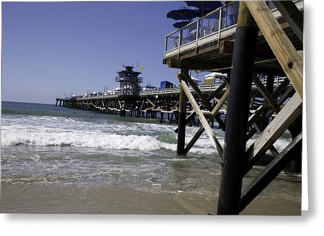 San Clemente Pier Greeting Card by Joenne Hartley