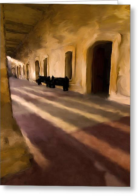 San Cristobal Shadows Greeting Card by Sven Brogren