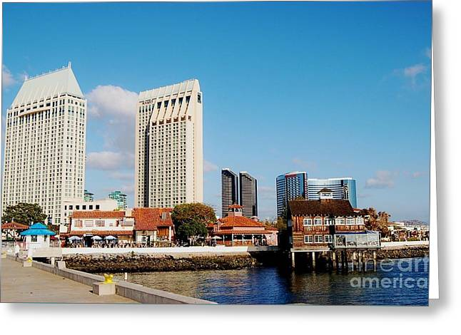 Greeting Card featuring the photograph San Diego - Seaport Village by Jasna Gopic
