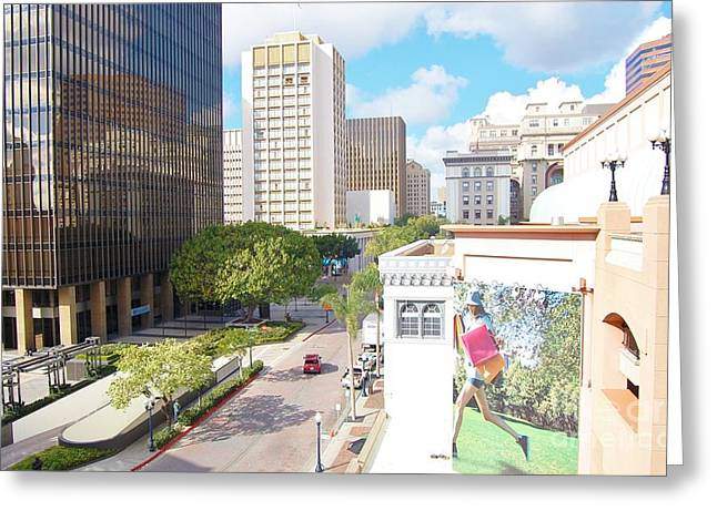 Greeting Card featuring the photograph San Diego Downtown by Jasna Gopic
