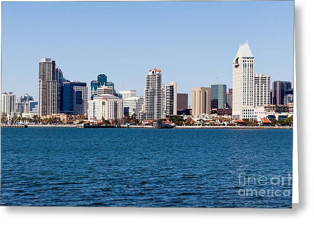 San Diego Skyline Buildings Greeting Card by Paul Velgos
