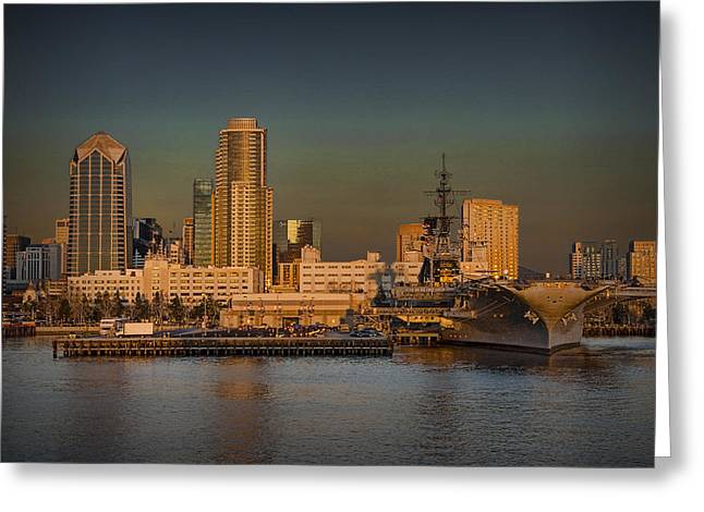 Randy Greeting Cards - San Diego Skyline No 0532 Greeting Card by Randall Nyhof