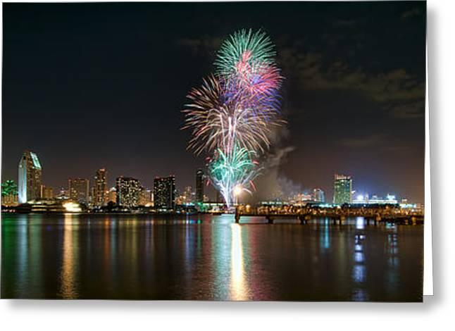 San Diego Summer Pops Fireworks 2012 Greeting Card
