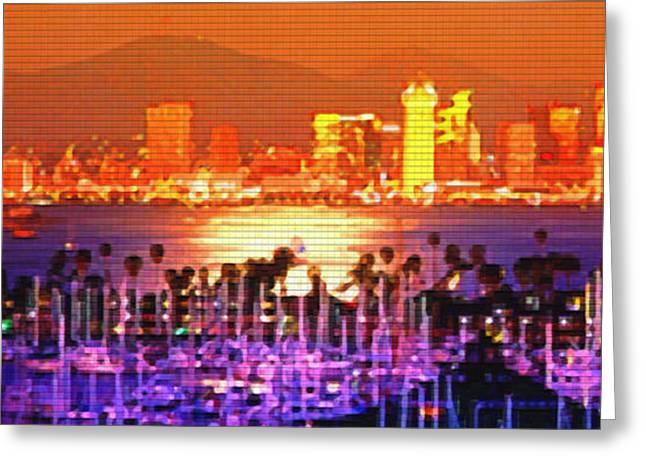 San Diego Sunset Greeting Card by Steve Huang