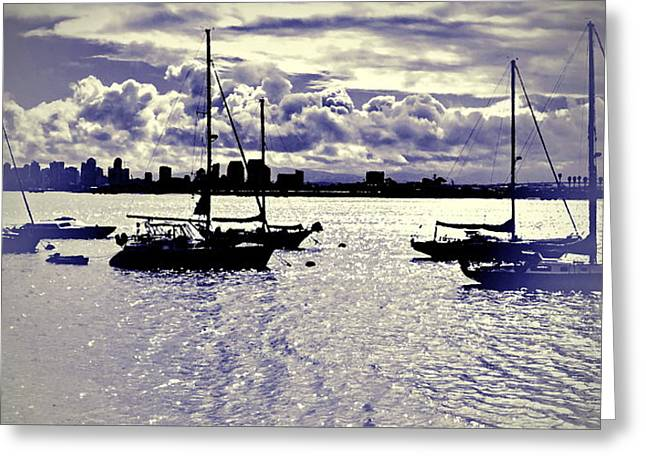 San Diego View From Shelter Island IIi Greeting Card