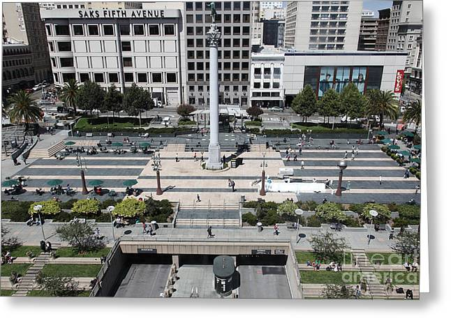 San Francisco - Union Square - 5d17942 Greeting Card