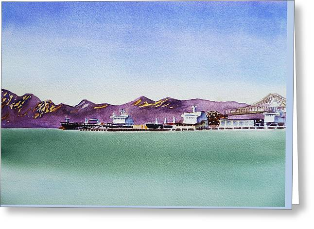 San Francisco Bay Richmond Port Greeting Card by Irina Sztukowski