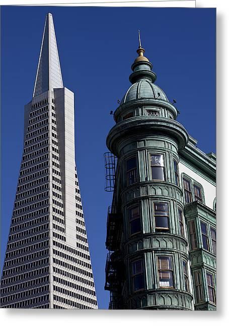 San Francisco Buildings Greeting Card