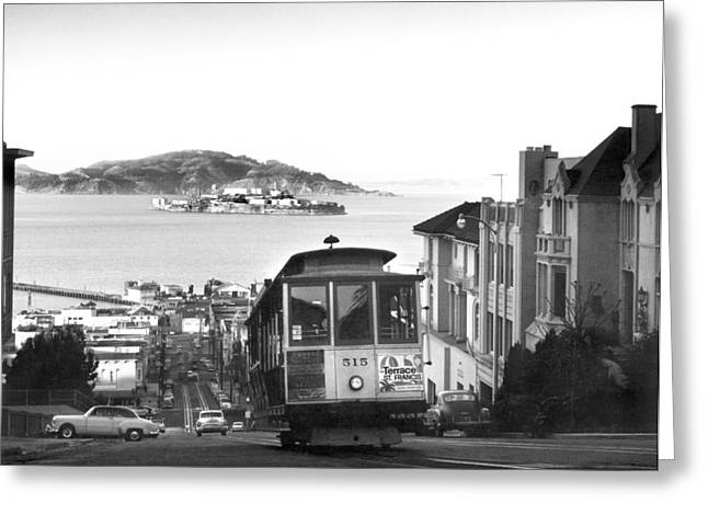 San Francisco Cable Car Greeting Card by Underwood Archives