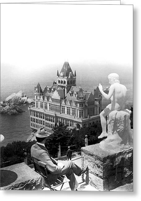 San Francisco Cliff House Greeting Card by Underwood Archives