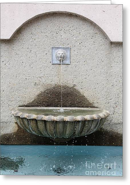 San Francisco Crocker Galleria Roof Garden Fountain - 5d17895 Greeting Card by Wingsdomain Art and Photography