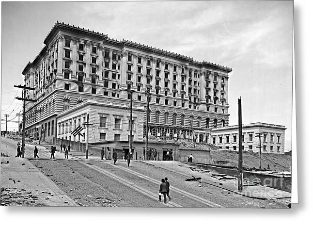San Francisco Fairmount Hotel After 1906 Earthquake Greeting Card by Padre Art