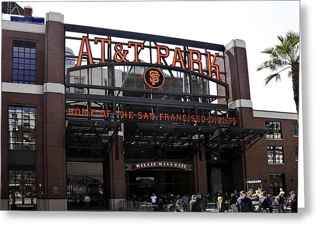 San Francisco Giants Baseball Park Greeting Card by Paul Plaine