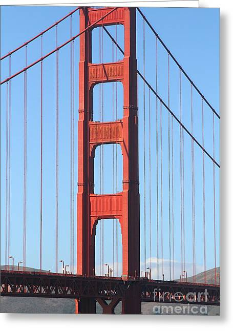 San Francisco Golden Gate Bridge . 7d7804 Greeting Card by Wingsdomain Art and Photography