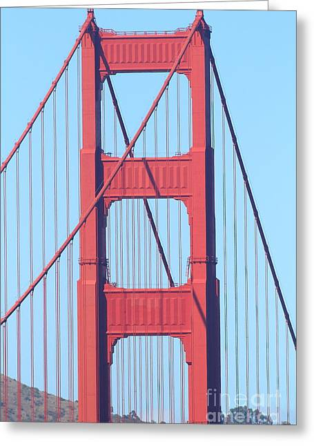 San Francisco Golden Gate Bridge . 7d7809 Greeting Card by Wingsdomain Art and Photography