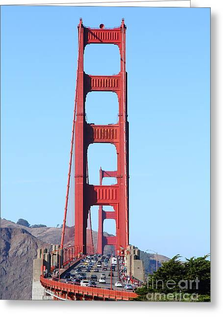 San Francisco Golden Gate Bridge . 7d8146 Greeting Card by Wingsdomain Art and Photography