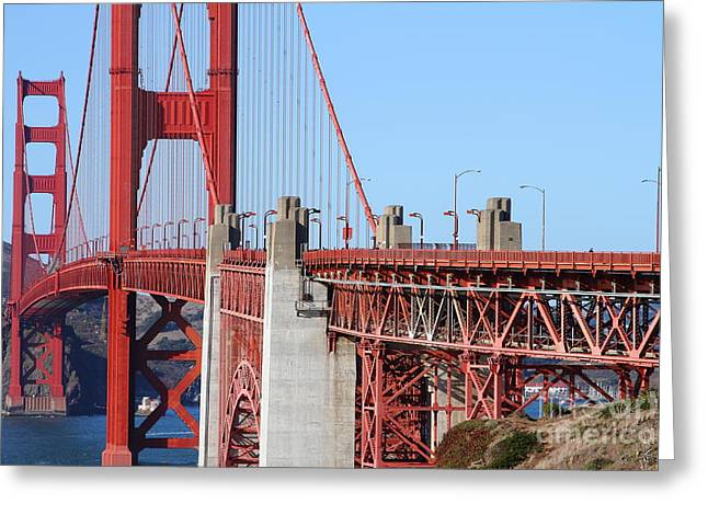 San Francisco Golden Gate Bridge . 7d8166 Greeting Card by Wingsdomain Art and Photography