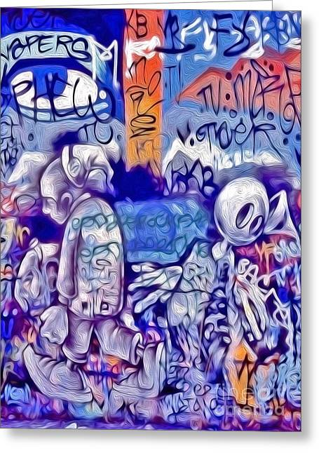 San Francisco Graffiti Park - 1 Greeting Card by Gregory Dyer