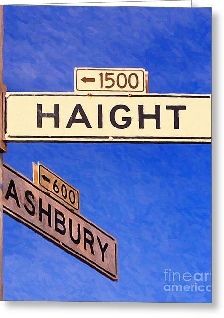 San Francisco Haight Ashbury Greeting Card by Wingsdomain Art and Photography