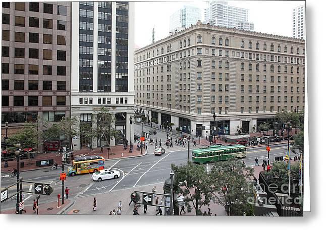San Francisco Market Street - 5d17883 Greeting Card by Wingsdomain Art and Photography