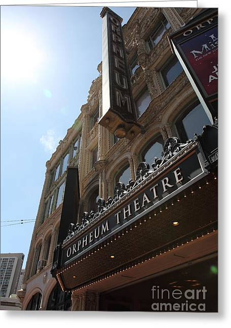 San Francisco Orpheum Theatre - 5d17985 Greeting Card