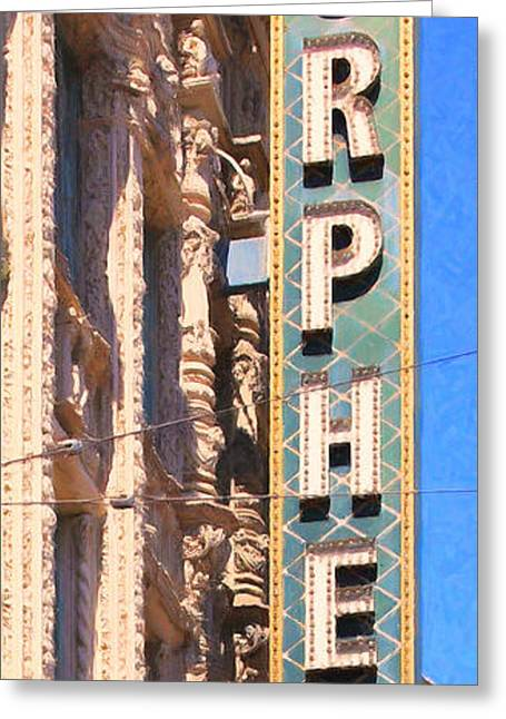 San Francisco Orpheum Theatre - 5d17997 - Painterly Greeting Card by Wingsdomain Art and Photography