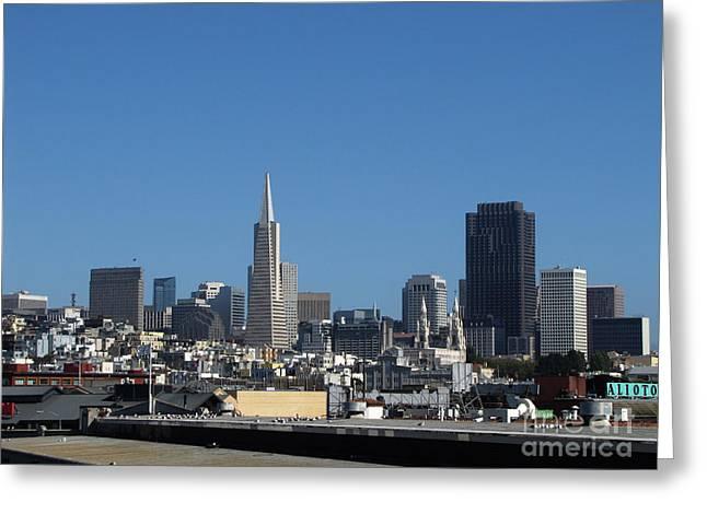 San Francisco Greeting Card by Serena Ballard