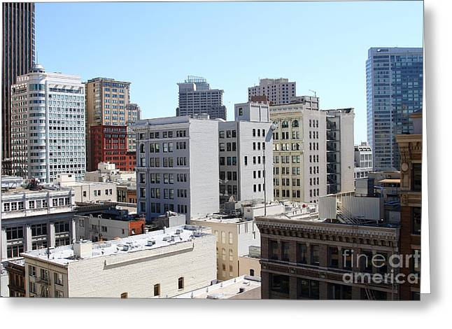 San Francisco Skyline . 7d7490 Greeting Card by Wingsdomain Art and Photography