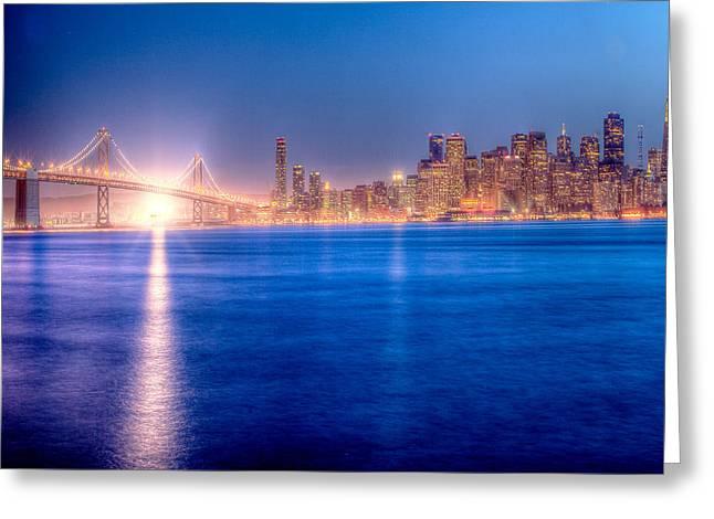 San Francisco Skyline Greeting Card by Ariane Moshayedi