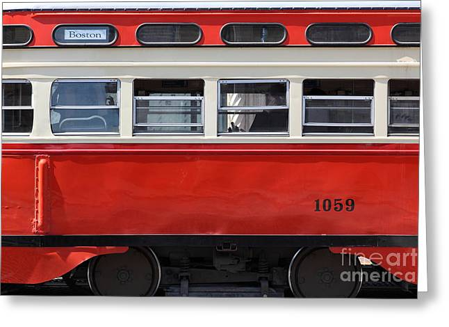 San Francisco Vintage Streetcar On Market Street - 5d18002 Greeting Card by Wingsdomain Art and Photography