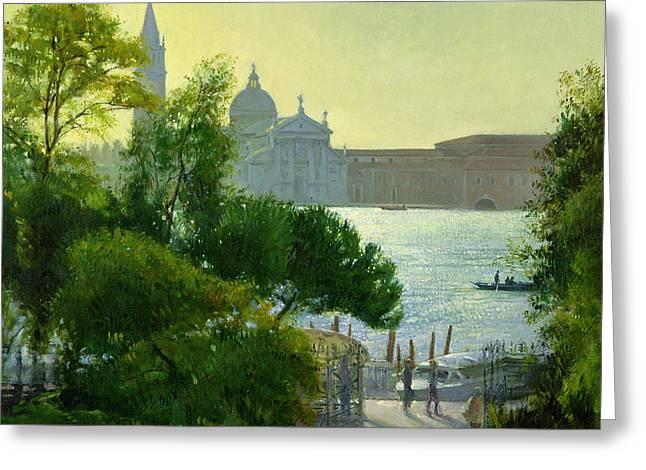 San Giorgio - Venice  Greeting Card by Timothy Easton