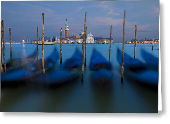 San Giorgio Maggiore With Twilight Sky Greeting Card