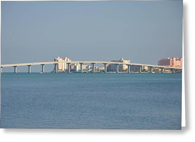 Sand Key Bridge Clearwater Beach Greeting Card by Bill Cannon