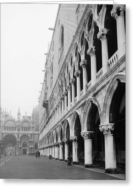 San Marco Square In Venice Greeting Card by Emanuel Tanjala