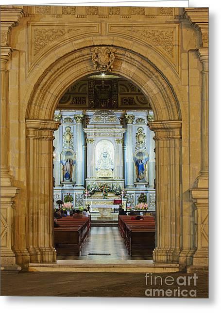 Sanctuary Of La Basílica De La Virgen De La Soledad Greeting Card by Jeremy Woodhouse