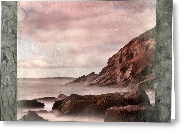 Sand Beach In Texture Greeting Card by Don Powers
