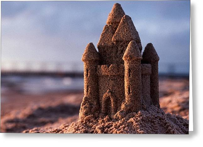 Sand Castle Greeting Card by Bob Nardi