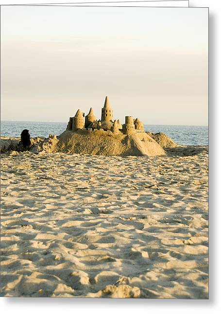 Sand Castle On East Beach Greeting Card by James Forte