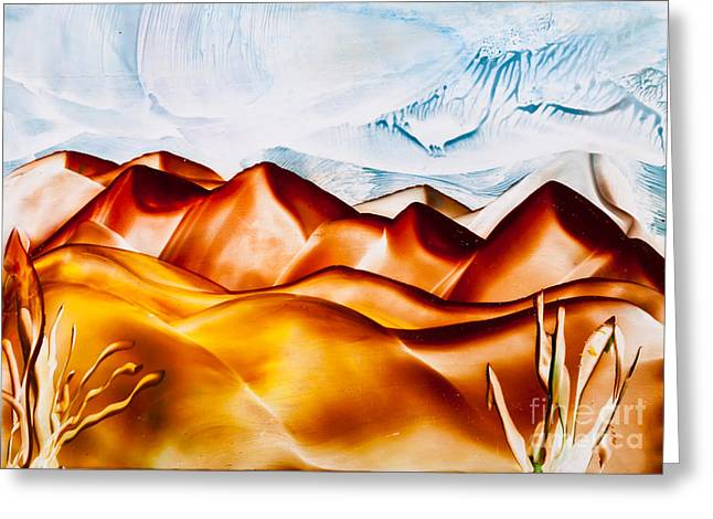Sand Dune Hills Painting Greeting Card by Simon Bratt Photography LRPS
