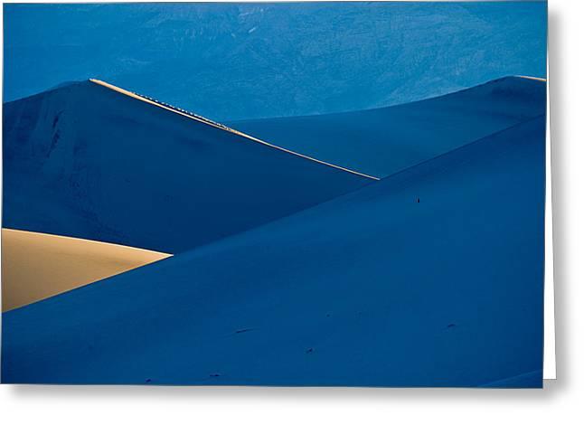 Sand Dunes Sunrise Greeting Card by Steve Gadomski
