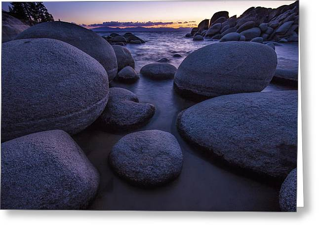 Sand Harbor Greeting Card by Rick Berk