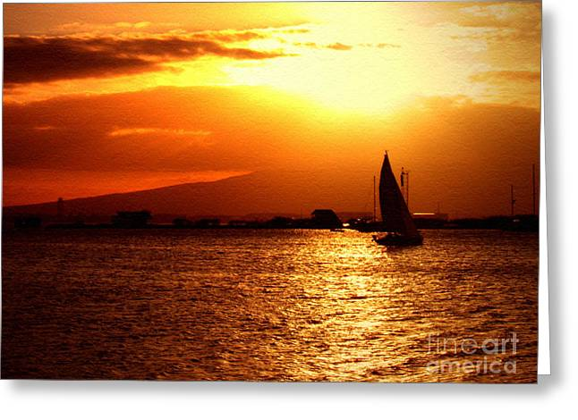 Sand Island Sunset 1 Greeting Card