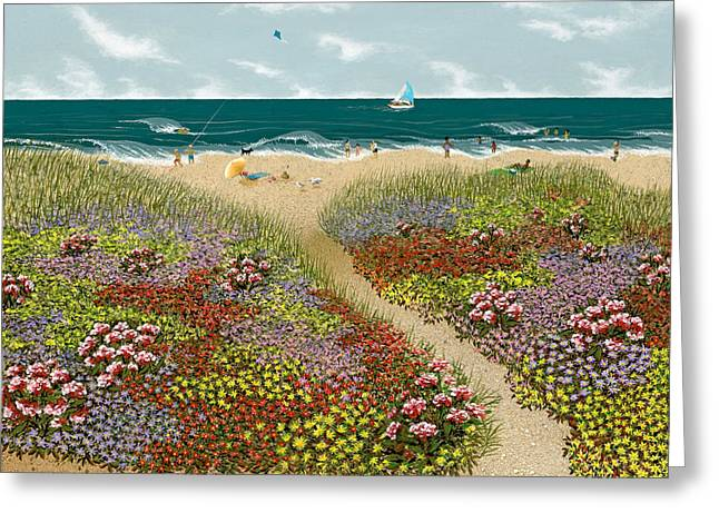 Sand Path Greeting Card