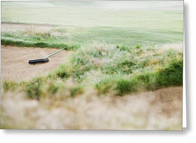 Sand Trap At A Golf Course Greeting Card